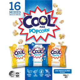 Photo of Cool Pak Popcorn Variety 16 Pack 198g