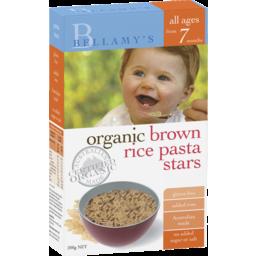Photo of Bellamy's Organic Brown Rice Pasta Stars 200g