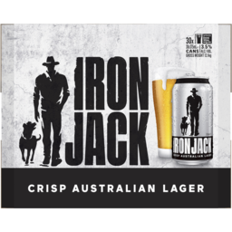 Photo of Iron Jack Crisp Australian Lager Cans