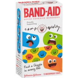 Photo of Band Aid Camp Quality Waterproof Strips 15 Pack