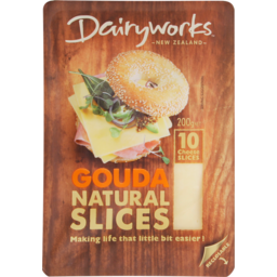 Photo of Dairy Works Cheese Slices Gouda 10 Pack