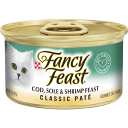 Photo of Fancy Feast Adult Classic Cod, Sole & Shrimp Feast Patè Wet Cat Food 85g
