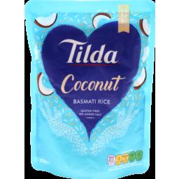 Photo of Tilda Steamed Basmati Rice Coconut 250g