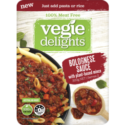 Photo of Vegie Delights Bolognese Sauce With Plant-Based Mince 300g