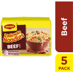 Photo of Maggi 2 Minute Noodles 5 Pack Beef Flavour