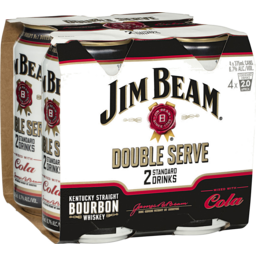 Photo of Jim Beam Double Serve & Cola Cans