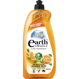 Photo of Earth Choice Ultra Concentrate Antibacterial Dishwashing Liquid Orange Zest 900ml