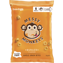 Photo of Freedom Foods Messy Monkeys Whole Grain Bites Burger 8 Pack