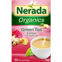 Photo of Nerada Organic Tea Ginger 50s 75gm