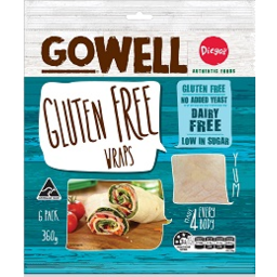 Photo of Gowell Gluten Free Wraps 6pk 360g