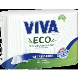 Photo of Viva Eco Bamboo Fibre Paper Towel 3 Pack