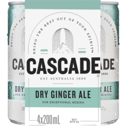 Photo of Cascade Dry Ging Ale Can 200ml 4pk