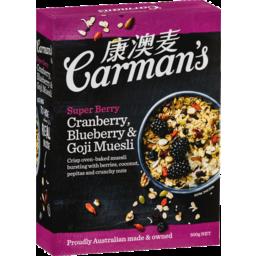 Photo of Carmans Muesli Super Berry 500gm