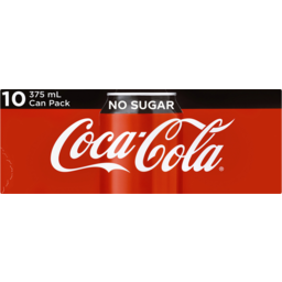 Photo of Coca-Cola No Sugar Soft Drink Multipack Cans 10x375ml