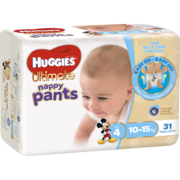 Photo of Huggies Ultimate Nappy Pants, Boys, Size 4 Toddler (10 - 15kg), 31 Nappy Pants