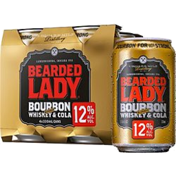 Photo of Bearded Lady & Cola 12% 4x330ml