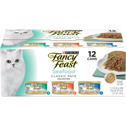Photo of Fancy Feast Cat Food Seafood Feast Variety 12 Pack
