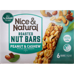 Photo of Nice&Natural Roasted Nut Bars Cashew 6pk 192g
