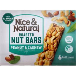 Photo of Nice & Natural Nut Bar Cashew 6s 192gm