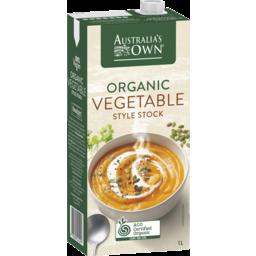 Photo of Australia's Own Organic Vegetable Style Stock 1L