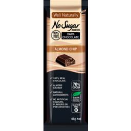 Photo of Well Naturally Nsa Dark Chocolate Almond Chip 45g