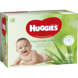 Photo of Huggies Baby Wipes Cucumber & Aloe Vera 384s