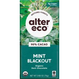 Photo of Alter Eco Chocolate Dark Mint Blackout 80g
