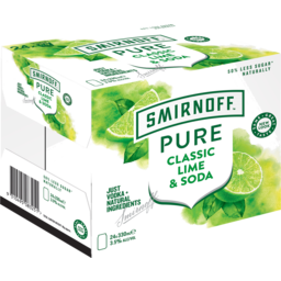 Photo of Smirnoff Pure Lime & Soda Can