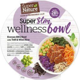 Photo of Super Nature Super Slim Wellness Bowl – Korean BBQ Beef With Teff & Wild Rice 350gm