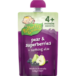 Photo of Raffertys Garden Smooth Pear & Superberries 120g
