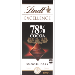 Photo of Lindt Excellence 78% Cocoa Smooth Dark Chocolate 100g
