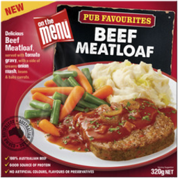Photo of On The Menu Beef Meatloaf 320gm
