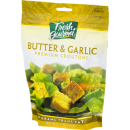 Photo of Fresh Gourmet Premium Croutons Butter & Garlic