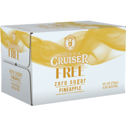 Photo of Vodka Cruiser Sugar Free Pineapple 4.6% 275ml 24 Pack