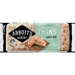 Photo of Abbott's Village Bakery - Light Rye Sandwich Thins