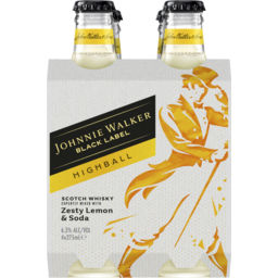 Photo of Johnnie Walker Black Highball Zesty Lemon Bottle