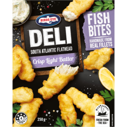 Photo of Birds Eye Deli South Atlantic Flathead Crisp Light Batter Fish Bites 250g