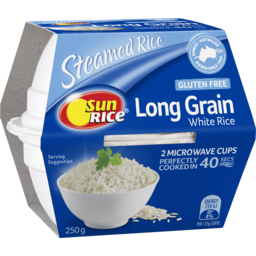 Photo of Sunrice In 40 Seconds Microwave Quick Cups X2 White Rice Long Grain 250g 250g