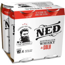 Photo of Ned Whisky & Cola 4.8% 4x375ml
