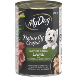 Photo of My Dog Naturally Crafted Wet Dog Food Pasture Raised Lamb With Carrots And Green Beans 400g Can