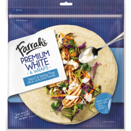 Photo of Wraps Farrah's Premium White 6 Pack