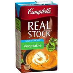 Photo of Campbell's Real Stock Vegetable Salt Reduced 1