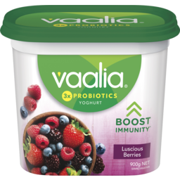 Photo of Vaalia Yoghurt Luscious Berries 900g