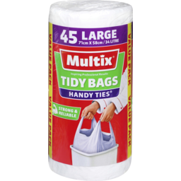 Photo of Multix Handy Ties Tidy Bags Large 45 Pack
