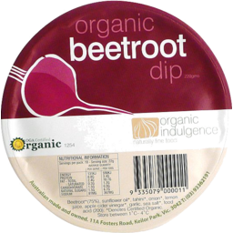 Photo of Organic Indulgence Beetroot Dip 200g