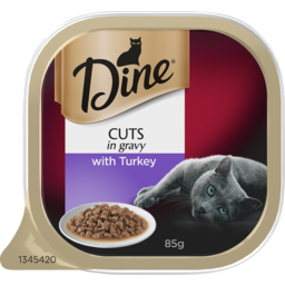 Photo of Dine Cat Food, Turkey In A Delicious Gravy 85g