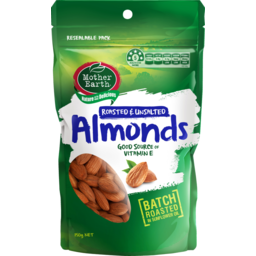 Photo of Mother Earth Roasted Almonds Unsalted 150g