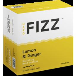 Photo of Hard Fizz Lemon & Ginger Seltzer Cans