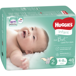 Photo of Huggies Infant Nappies Size 2 (4-8kg) 48 Pack (Bulk)