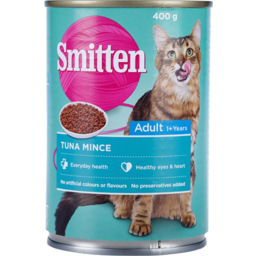 Photo of Smitten Adult Cat Food Tuna Mince 400g